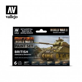WWII British Armour & Infantry Paint Set